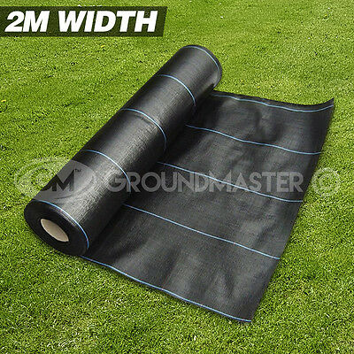 2M Wide Groundmaster™ Heavy Duty Weed Control Fabric Ground Cover  Membrane