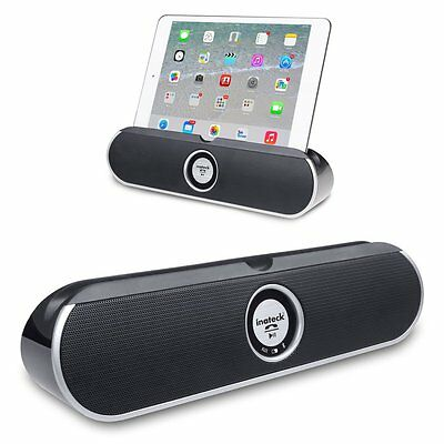 Inateck Wireless Bluetooth Speaker AUX With Stand Dock For Smartphone iPad