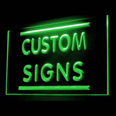 Your Text Personalized Custom Made Customize Display LED Light Sign 60 by 30 CM