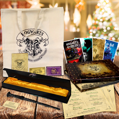 Harry Potter Christmas Gift Set! Wand Quill Etc*