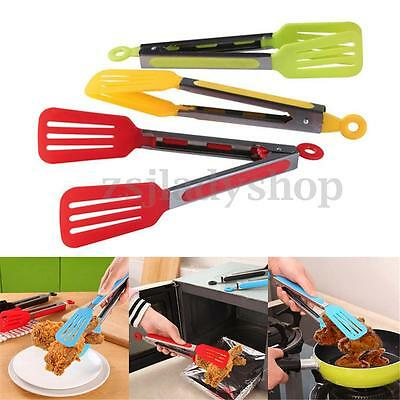 Stainless Steel BBQ Cooking Food Salad Serving Tongs Kitchen Tools Utensils