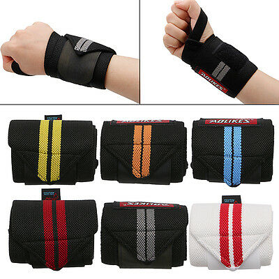 Hand Wraps Wrist Strap Crossfit Powerlifting Bodybuilding Support Weight Lifting