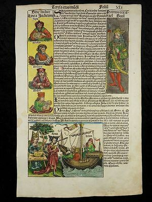 Ulysses Circe Saul Samson Incunable Woodcut Nuremberg Chronicle Schedel 1493 J08