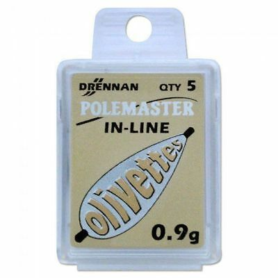 Drennan Polemaster Engraved In-Line Olivettes - All Weights - Terminal Tackle