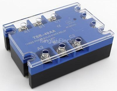 TSR-40AA three phase AC to AC 40A 90-480VAC solid state relay / SSR