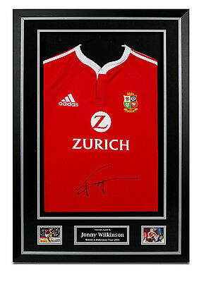 Jonny Wilkinson Signed British Lions Shirt Framed Autograph Rugby Memorabilia