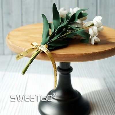Wooden Brown   Cake Cupcake Stand  10 Inches for Birthdays Weddings