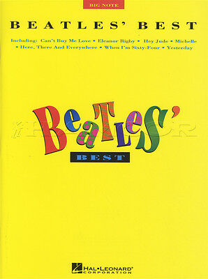 The Beatles Best Big Note Piano Sheet Music Book Day Tripper Hey Jude Michelle