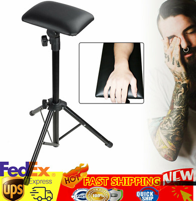 Adjustable Foldable Tattoo Tripod Stand For Arm Leg Rest Studio Chair Sponge Pad