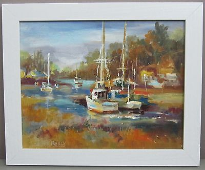 JOHN REILLY__Noted NJ Impressionist__Oil on Board__Signed/Framed__ExC_SHIPS FREE