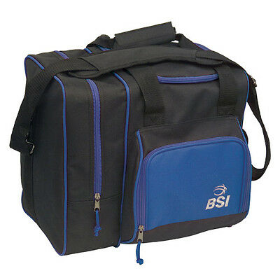 BSI Deluxe Single Bag 1 Ball Bowling Bag Black/Blue