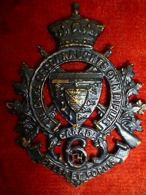 MM42, 6th Duke of Connaught's Own Rifles (British Columbia) Cap Badge - Canadian