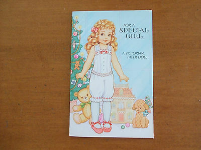 Victorian Paper Doll Christmas Greeting Card byCarlton Cards Canada - uncut