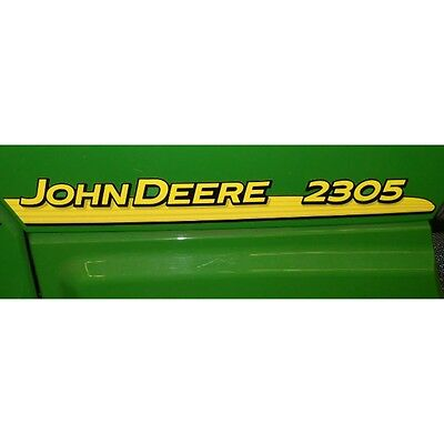 John Deere hood trim decal set for 2305  tractors LVU801815  LVU801816
