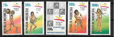 pa671 INDONESIEN/ Olympia 1992 MiNr 1421/25 **