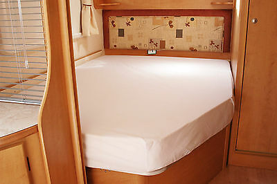 Ivory Bessacarr E660 Motorhome Fitted Sheet White Walnut Whip