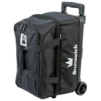 Brunswick Blitz Double Roller 2 Ball Bowling Bag Black