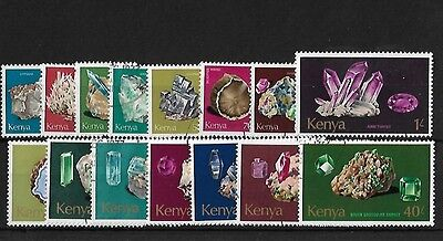 Kenya 1977 Minerals Set, Fine Used, Sg107/121, Cat £28+