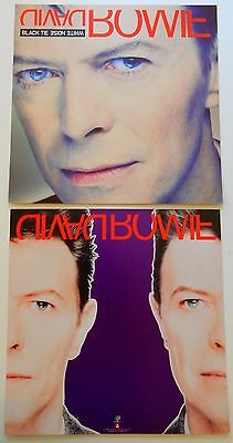 David Bowie Black Tie 1993 Album Slick Record Store Promo Poster Display Cards