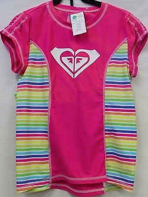 *NEW* Roxy Girl's 2 Piece UPF 50 Sun Protection Rash Guard Swim Set