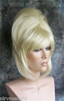 High Cone Beehive 60's Style Womens/Mens Drag? Blonde or White or Auburn Red Wig