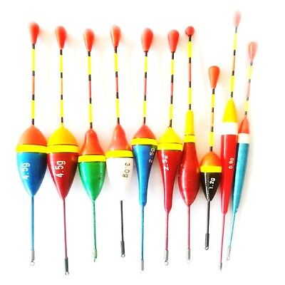 10pcs Fishing Floats Set Buoy Bobber Light Stick Floats For Fishing