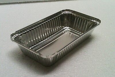 Rectangula Foil Tray For Roasting, BBQ and Baking 500pcs 11 cm x 19 cm x 3.5 cm