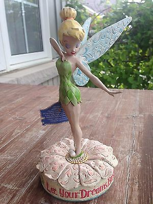 """Disney Traditions by Jim Shore Tinkerbell Figurine """"Let Your Dreams Blossom"""""""