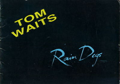 Tom Waits 1985 Rain Dogs Tour U.k. Concert Program Book
