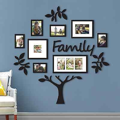 NEW Family Tree Collage Photo Picture Frame Set Plaque Wall Art Decor Decoration