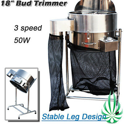 3 Speed 18in Automatic Electric Bud Leaf Trimmer Plant Tumble Cutter Hydroponics