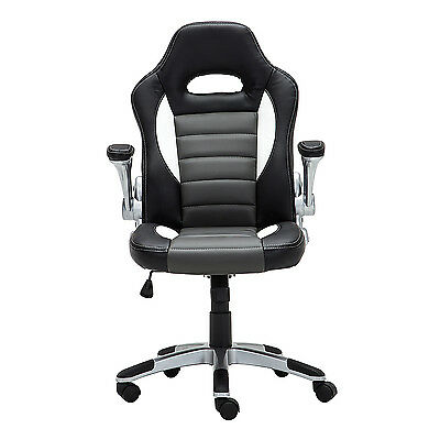 Executive Racing Office Chair PU Leather Swivel Computer Desk Seat High-Back