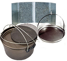 "NEW  Aussie Camp Oven 12"" & 16"" Campa Pan Bundle"