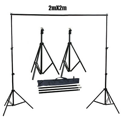 Photography Heavy Duty 2x2m Photo Studio Backdrop Background Support Stand Kit