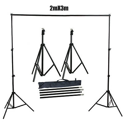Photography Heavy Duty 2x3m Photo Studio Backdrop Background Support Stand Kit
