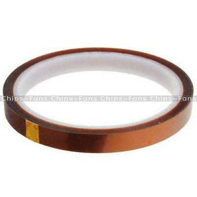 10mm 100ft Kapton Tape BGA Heat Resistant High Temperature Polyimide Gold NEW