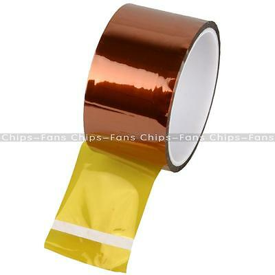 NEW 50mm 5cm x 30M Kapton Tape Sticky High Temperature Heat Resistant Polyimide