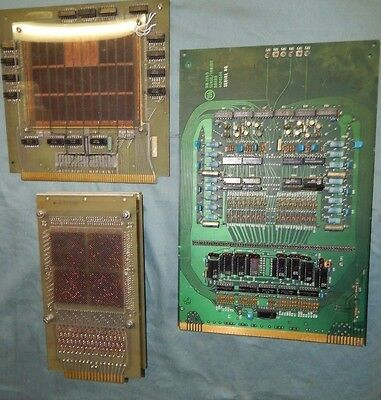 3 Boards Vintage Fabri-Tex Brain & More Gold Plated 999-6278-00 & More Modules