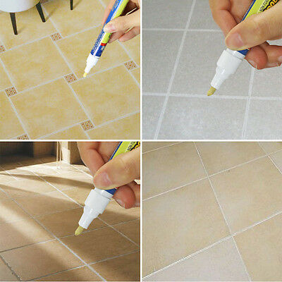 Grout Aide Tile Marker Ceramic Wall Floor Tile White Repair Pen Fix Tool