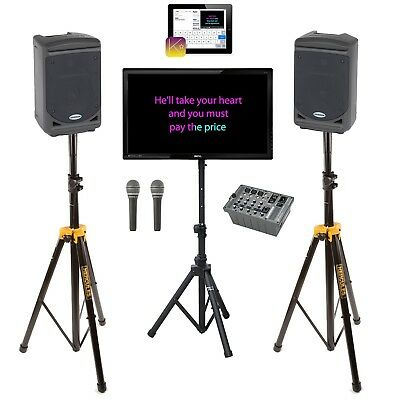 Ex-Hire Real Karaoke iPad Controlled Karaoke Performance System With 900 Tracks