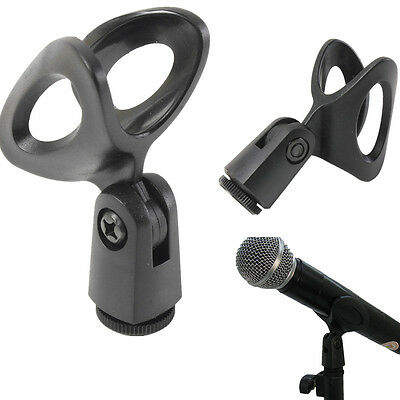 Flexible Plastic Microphone Mic Clamp Clip Holder Mount Stand Accessory NEW