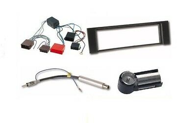 Set Mounting Frame+Aerial adaptor + Active system For AUDI A4 Radio faceplate /