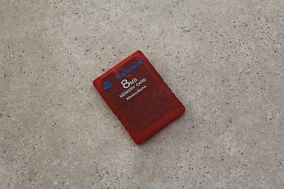 Sony Playstation 2 PS2 Genuine Memory Card (SCPH-10020) Red