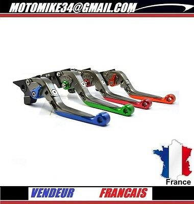 Levier TITANE ROUGE Repliable levers Frein Embrayage YAMAHA R6 2005-2011