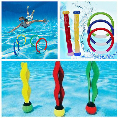 Underwater Children Swim Swimming Pool Diving Ring Stick Ball Fun Toys Play Xmas
