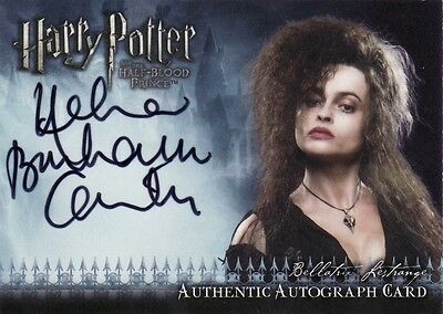 Harry Potter Half Blood Prince Helena Bonham Carter - Bellatrix Lestrange Auto