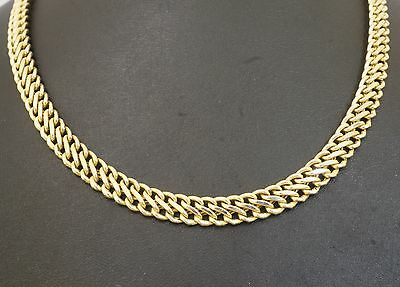 """9Ct Yellow Hollow Gold 16"""" 'S' Link Chain Necklace (7mm Wide Link)"""