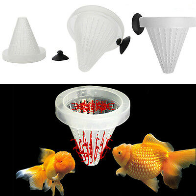Fish Food Basket Cone Feeder Live Worm Bloodworm Feed Tool for Aquarium Tank