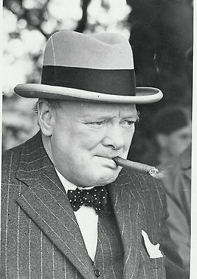 Art Print POSTER Winston Churchill Smoking Cigar
