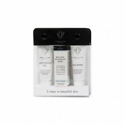 Crystal Clear Set Skin Repair Deep Cleanse Gel Roll Away Years Holiday Hydration